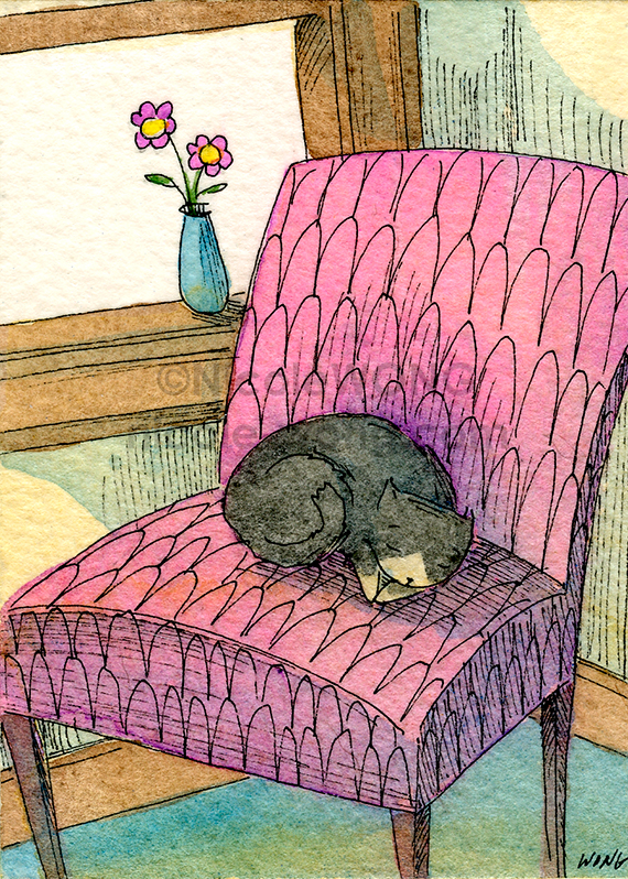aceo.print.Chair-Nap
