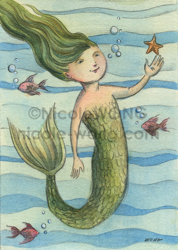print.aceo.Little-Mermaid