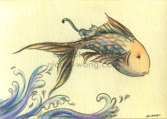 etsy.aceo.Fish-tale