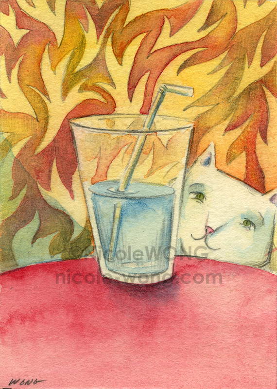 etsy.aceo.Hot-day,-Cold-drink