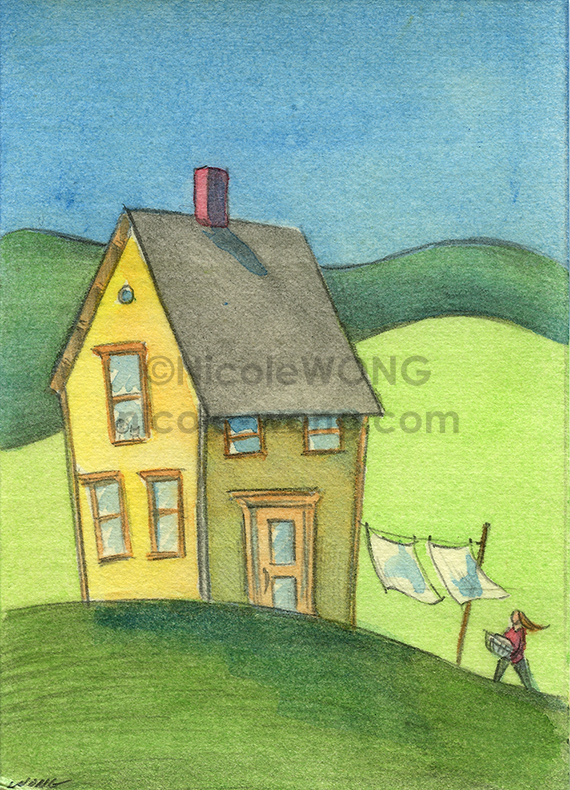 etsy.aceo.Laundry-outdoors
