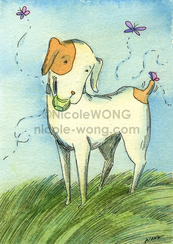 etsy.aceo.Mutt-play