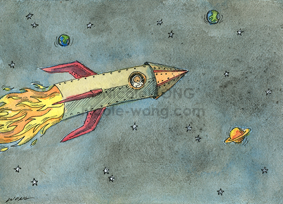 etsy.aceo.Space-adventure