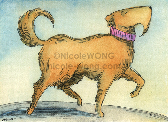 etsy.aceo.Mutt-Prance