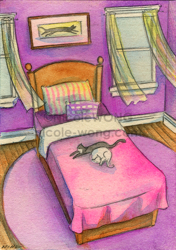 etsy.aceo.Relaxing-kitties