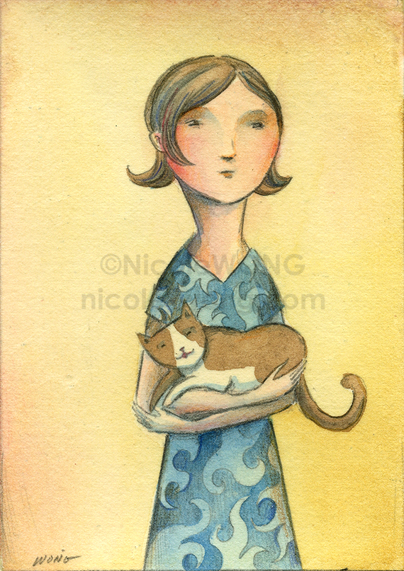 etsy.aceo.Cat-lady