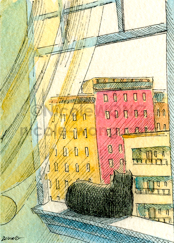 aceo.In-a-City-Window