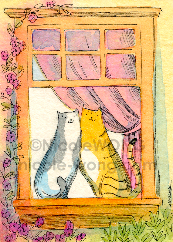 aceo.Window-Friends