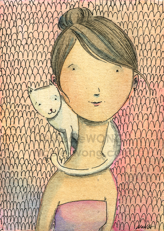 etsy-aceo-portrait-with-white-cat